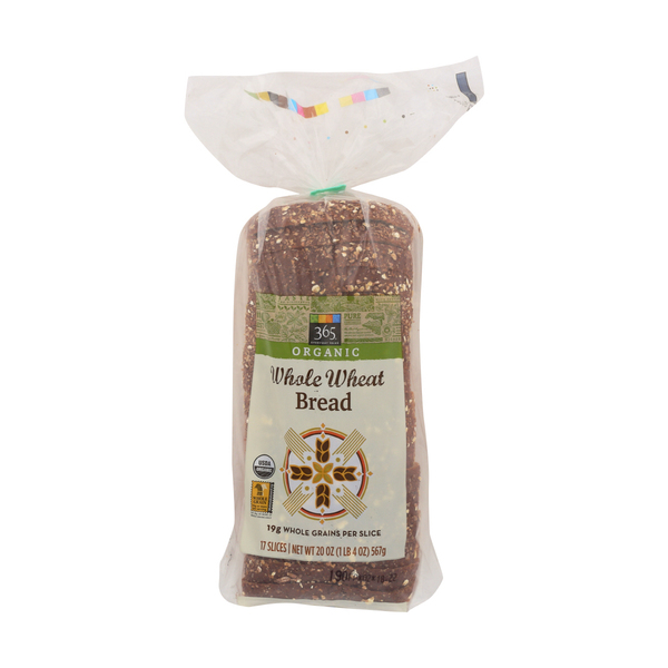 365 Everyday Value® Organic Whole Wheat Bread, 17 ct
