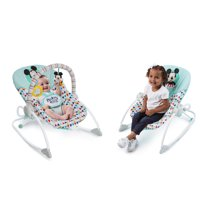 Bright Starts Disney Baby Mickey Mouse Infant to Toddler Rocker Seat - Happy Triangles