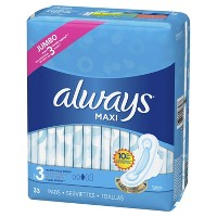 Always Maxi Extra Long Super Pads - Size 3 - 33ct