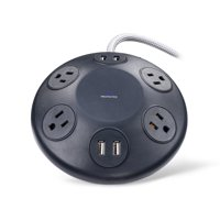 onn. Power Hub with 4 AC Outlets and 4 USB Ports