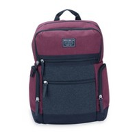 Eddie Bauer Side Pocket Back Pack Diaper Bag - Burgundy/Gray Flannel