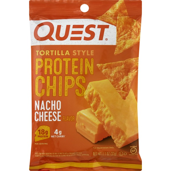 Quest Protein Chips, Nacho Cheese Flavor, Tortilla Style