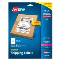 Avery Internet Shipping Labels, 5-1/2' x 8-1/2', 20 Labels (18126)