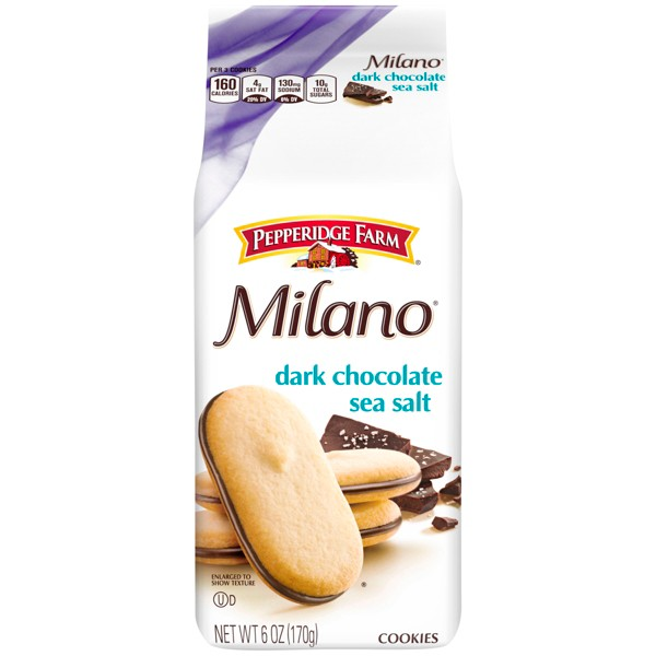 Milano Dark Chocolate Sea Salt Cookies - 6oz - Pepperidge Farm