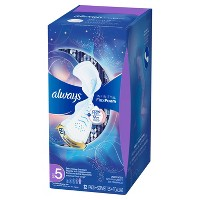 Always Infinity Size 5 Extra Heavy Absorbency Unscented Overnight Sanitary Pads with Wings - 22ct