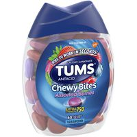 Tums Chewy Bites Extra Strength 750 Assorted Berries Chewable Tablets Antacid