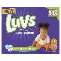 Luvs Triple Leakguards Diapers Size 3 168 Count