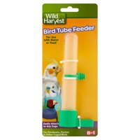 Wild Harvest Bird Tube Feeder, For Parakeets, Finches And Other Caged Birds