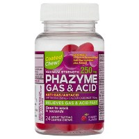 Phazyme Extra Strength Cherry Flavored Anti-Gas / Antacid 250mg Fast Gels - 24ct