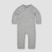 Burt's Bees Baby® Organic Cotton Quilted Bee Kimono Coverall - Heather Gray