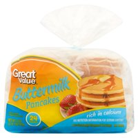 Great Value Buttermilk Pancakes, 24 count, 33 oz