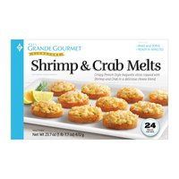 Grande Gourmet Shrimp & Crab Melts, 24 ct