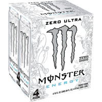 Monster Zero Ultra Energy Drink, 16 Fl. Oz., 4 Count