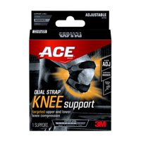 ACE Brand Adjustable Dual Knee Strap, Low-Profile, One Size Fits Most
