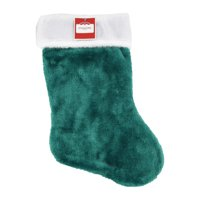 Holiday Time Plush Stocking, Teal