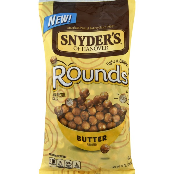 Snyders Rounds, Butter Flavored, Light & Crispy