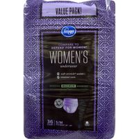 Kroger Small & Medium Maximum Absorbency Underwear for Women Value Pack