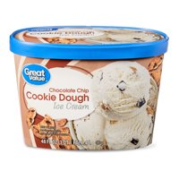 Great Value Chocolate Chip Cookie Dough Ice Cream, 48 fl oz