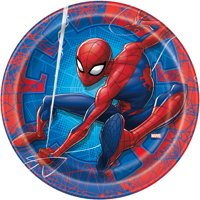 Spiderman Paper Dinner Plates, 9in, 8ct