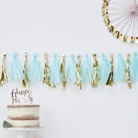 16ct Tassel Garland Teal