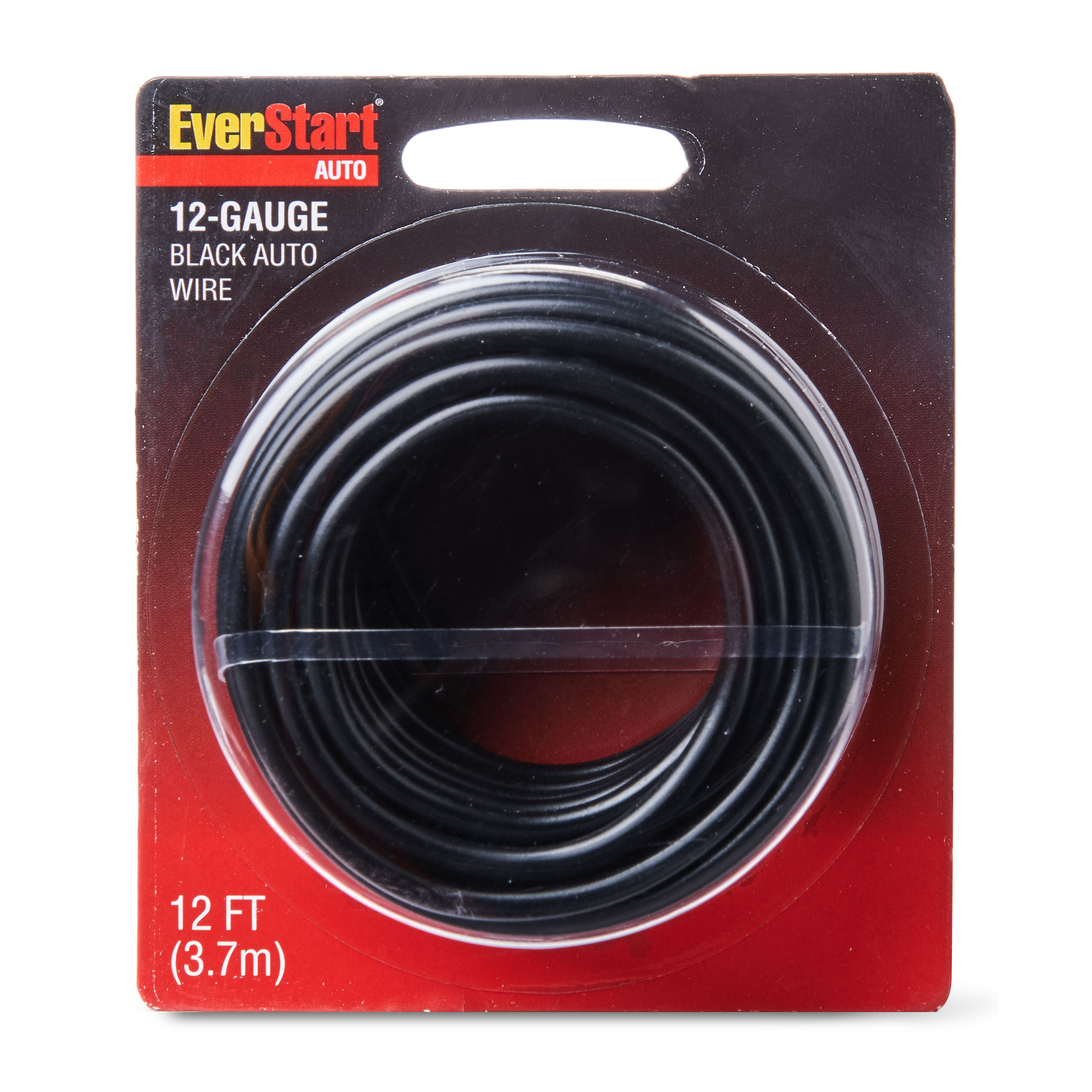 EverStart 12-Gauge Auto Wire, Black, 12ft,Can Light Swith to Fuse Block or Relay