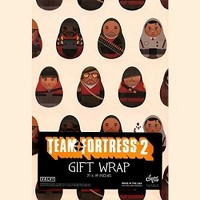 """Crowded Coop, LLC Team Fortress 2 Gift Wrap 27"""" x 39"""""""