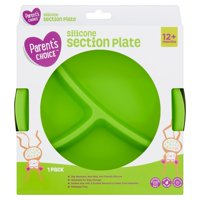 Parent's Choice Silicone Section Plate, 12+ Months, 1 Pack