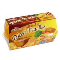 H-E-B Diced Peaches Cups In Light Syrup
