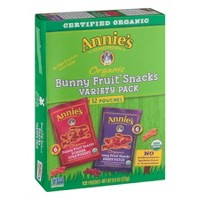 Annie's Bunny Fruit Snacks - Variety Pack 12ct