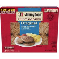 Jimmy Dean Fully Cooked Original Pork Sausage Patties