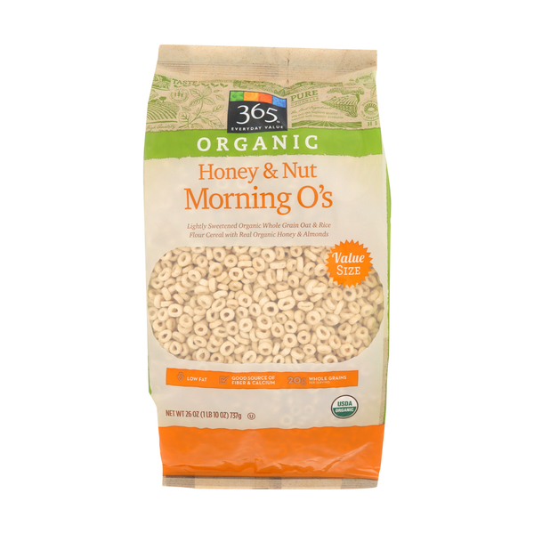 365 everyday value® Organic Cereal Morning Os Honey And Nut Value Bag, 26 oz