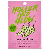 Holler and Glow Avo Good Day Nourishing and Hydrating Foot Mask – 0.61 fl oz