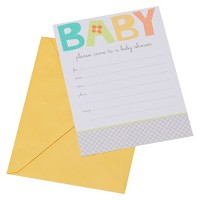 Multi-color Baby Shower Baby Invitations (8 ct)