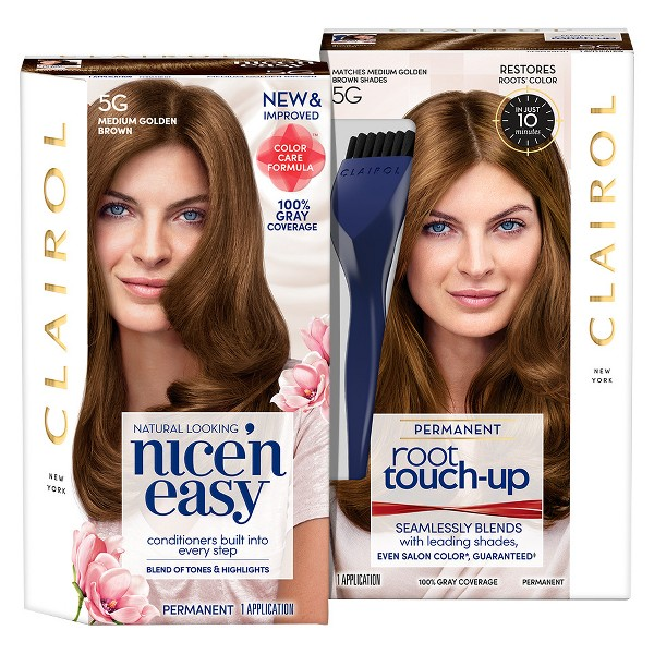 Clairol Nice' N Easy + Root Touch Up Duo Pack - 5G Medium Golden Brown