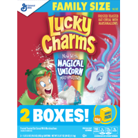Lucky Charms Marshmallow Cereal, Magical Unicorn, 2 Boxes - 38.6 Oz