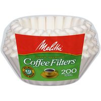 Melitta White Paper 8-12 Cups Basket Coffee Filters