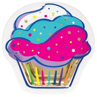 Cupcake Shaped Party Plates, 7in, 10ct
