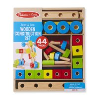 Melissa & Doug Twist & Turn Wooden Tools Construction Play Set (44 Pieces)