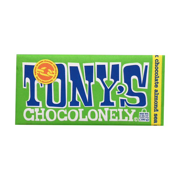 Tony's chocolonely 51% Dark Chocolate Almond Sea Salt Bar, 6.35 oz