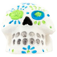 Aqua Culture Large Painted Skull Aquarium Ornament