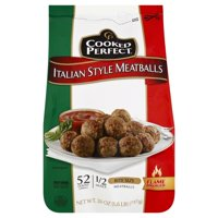 Cooked Perfect Meatballs - Italian Style - Bite Size - 52 CT26.0 OZ