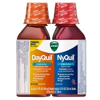 Vicks Dayquil & NyQuil Cold & Flu Relief Liquid - Acetaminophen - 12 fl oz/2pk