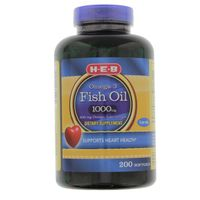 H-e-b Omega-3 Fish Oil 1000 Mg Dietary Supplement
