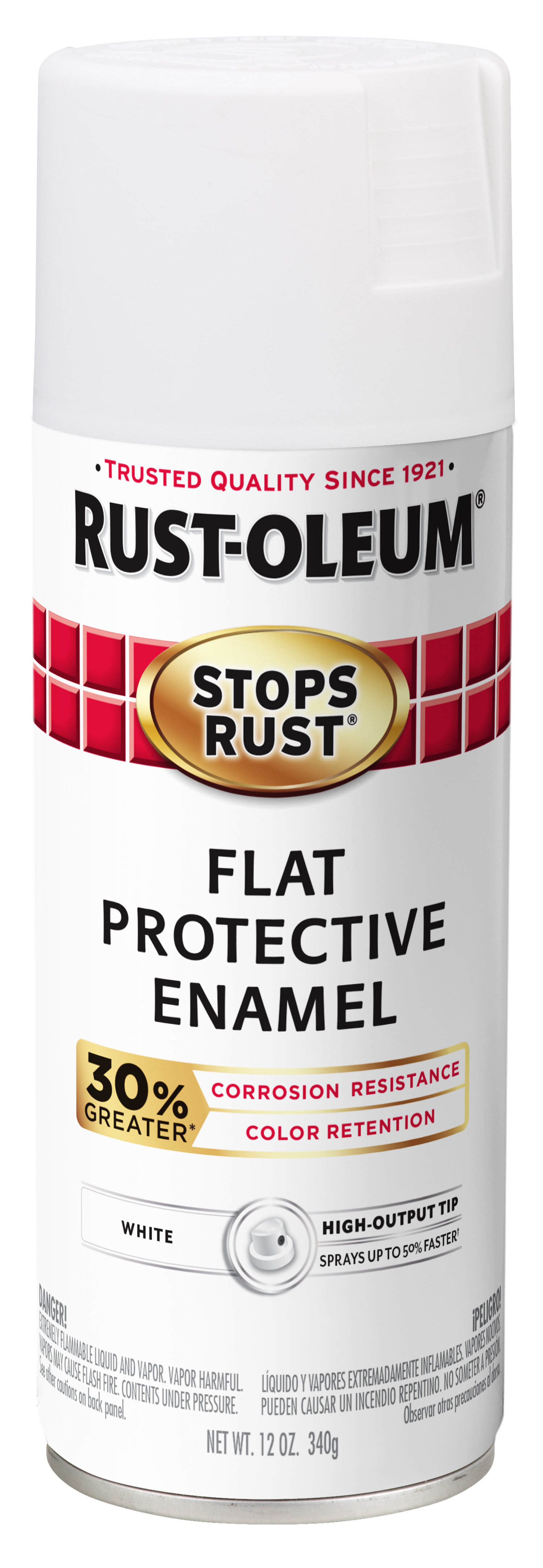 (3 Pack) Rust-Oleum Stops Rust Advanced Flat White Protective Enamel Spray Paint, 12 oz