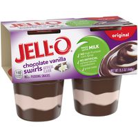Jell-O Ready to Eat Chocolate Vanilla Swirl Pudding Snack