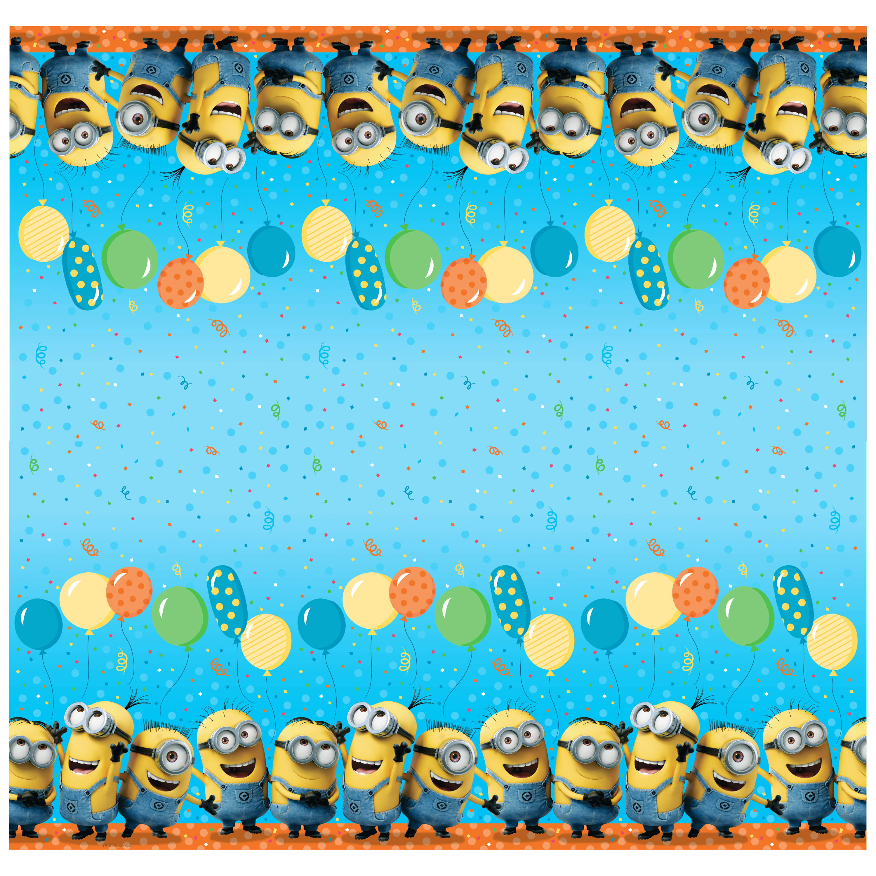 Despicable Me Minions Plastic Tablecloth, 84 x 54 in, 1ct
