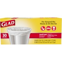 Glad 4gal Small Trash Bags - 30ct - Pack of 2