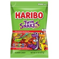 HARIBO Twin Snakes Gummy Candy - 8oz