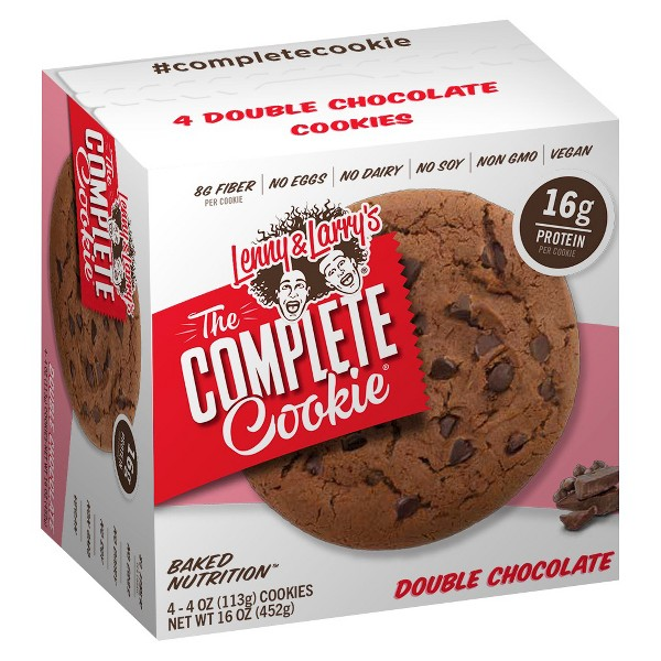 Lenny & Larry's Complete Vegan Cookie - Double Chocolate Chip - 4ct
