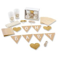 """73pc """"Oh Baby"""" Rustic Baby Shower Kit"""